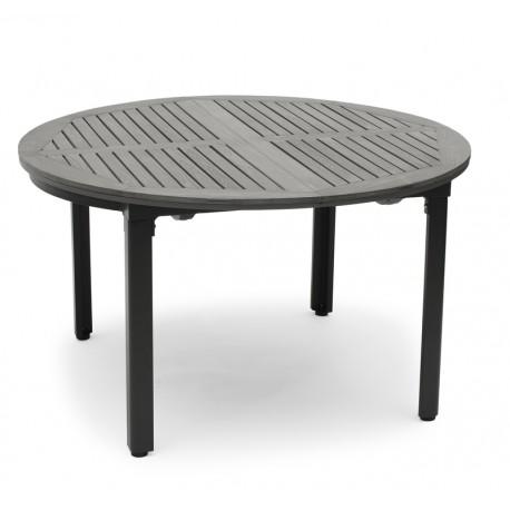 Forskellige Nyborg havebord ovalt grå med sort stel 130/180 - Homefront TE83